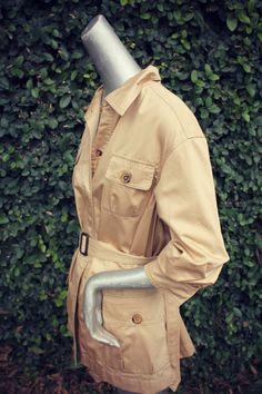 CAROLINA HERRERA camel tan Safari shirt jacket by musestudio, $88.00 Safari Shirt, Safari Jacket, Carolina Herrera, Shirt Jacket, Military Jacket, Camel, Jackets, Shirts, Fashion