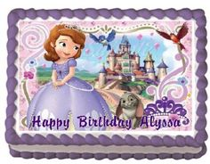 Sofia the First #4 Edible Frosting Sheet Cake Topper - 1/4 Sheet cake Frosting
