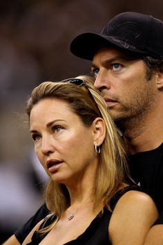 harry connick jr. | Harry Connick, Jr. and Jill Goodacre - Minnesota Vikings v New Orleans ...