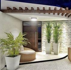 Modern House Design 709246641305293319 - House exterior design 832884524825503958 Source by Entrance Design, House Entrance, Door Design, Entrance Decor, Entrance Ideas, Modern Entrance, Front Yard Design, Entrance Hall, Minimalist House Design
