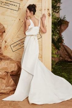 bffd7eb75da Aubrey (back) Spring 2017 Carolina Herrera Most Beautiful Wedding Dresses