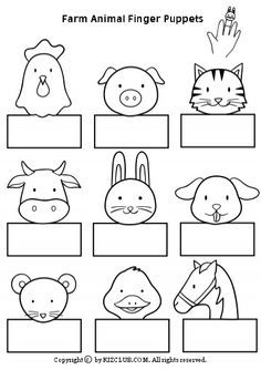 Farm Animal Finger Puppets - Kiz Read more about Dolls, Copyright and . - Farm Animal Finger Puppets – Kiz Read more about Dolls, Copyright and … – - Farm Animals Preschool, Farm Animal Crafts, Animal Crafts For Kids, Preschool Crafts, Farm Animals For Kids, Animal Activities For Kids, Easter Crafts, Free Preschool, Finger Puppet Patterns