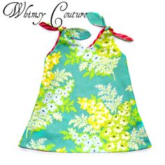 Whimsy Couture Sewing Pattern/Tutorial Tunic Dress Reversible Or One Sided 12 m thru 10 girls PDF. $9.00, via Etsy.