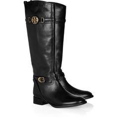 Tory Burch Calista leather riding boots and other apparel, accessories and trends. Browse and shop related looks.