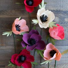 Amazing Anemone Crepe Paper Flowers | We think these DIY paper flowers are even prettier than the real things!