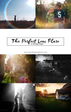 Photography tutorials, photography tips, lens flares