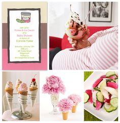 Pickles and Ice Cream Baby Shower by finestationery, via Flickr