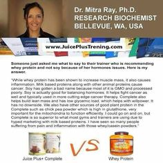 Juice Plus + Complete Shakes vs Whey protein. Ashanthony12@gmail.com