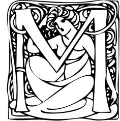 """Art Nouveau """"M"""""""
