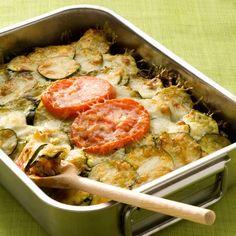 Découvrez la recette Dauphinois de courgettes sur cuisineactuelle.fr.