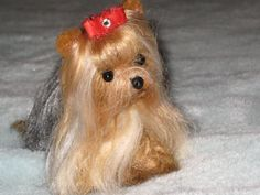 How To Do Needle Felting | MY NEEDLE FELTED YORKIE~NEEDLE FELTING DIRECTIONS~TUTORIAL~CHOOSING ... #felteddog #needlefeltingtutorials