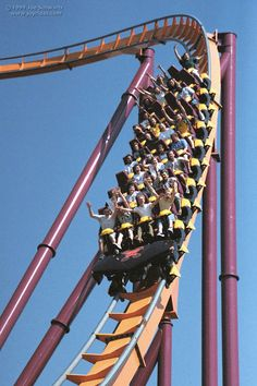 Raging Bull roller coaster at Six Flags Great America