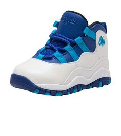 JORDAN+Retro+10+High+top+toddler+sneaker+Lace+front+closure+Patent+leather+trim+Padded+tongue+with+logo+Cushioned+inner+sole+for+ultimate+comfort+and+performance