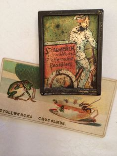 Stollwerck miniature tin for peppermint pastilles