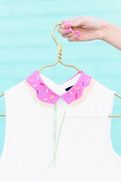 DIY Painted Donut Collar | fashion craft @studiodiy