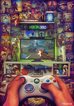 xbox fondos A big part of me is playing video games. I love the competitiveness and excitement that comes from playing them. I have been playing video games since I was probably around 8 so they have been a staple for a while now. Ps Wallpaper, Game Wallpaper Iphone, Classic Video Games, Retro Video Games, Retro Games, Video Game Rooms, Video Game Art, Flipper, Gamer Room