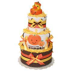 Mommy's Little Pumpkin Diaper Cake, $119.00
