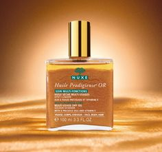 Huile Prodigieuse OR - Dry Oil with Gold Shimmer for face, hair & body.  Discovered this while in France, much cheaper in France.