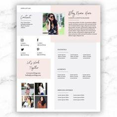 Kit Media, Media Kit Template, Blog Names, Press Kit, Best Brand, Lorem Ipsum, Career, Etsy, Templates