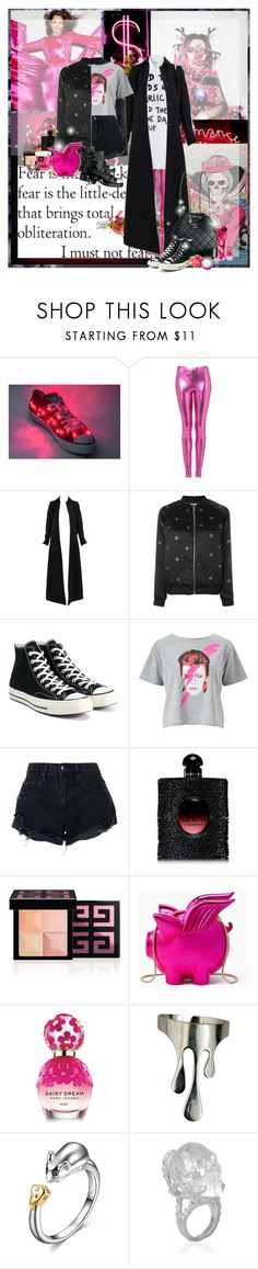 """""""Extreme Pink"""" by lady-redrise ❤ liked on Polyvore featuring Inez & Vinoodh, Topshop, Alaïa, Zoe Karssen, Converse, Miss Selfridge, Nobody Denim, Yves Saint Laurent, Givenchy and Kate Spade"""