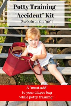 """Whether potty training your boy or girl takes three days or three months- they are likely to have an occasional accident. This """"accident kit"""" is a must to add to your diaper bag or throw in your purse while traveling or running errands!"""