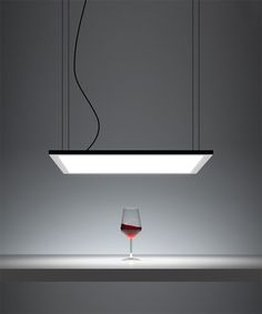 DAVIDE GROPPI Suspension lamp with polycarbonate diffuser and metal frame finished in matt white.