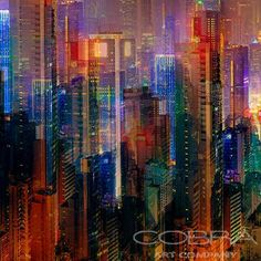 SHAKE COLOR MIX Modern Art Urban Art Best Sellers New Collection Architecture photography Photographic art on plexiglass Cobra Art Company