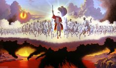 Second Coming of Jesus Christ, King of Kings, Supper of God, beast and false prophet thrown into the Lake of Fire, Marriage Supper of the Lamb. Braut Christi, Arte Judaica, Revelation Bible, Jesus Second Coming, The Son Of Man, King Of Kings, Word Of God, Holy Spirit, Christianity