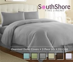 23  This means attention has been paid to every aspect of the product. These sheets are truly a high-end product. Our 3-Piece Duvet Cover Sets are part of our Premium Collection. These Duvet Cover Sets are made with our highest quality, most luxurious, Shrinkage-free, 110 GSM Microfiber Fabric. | eBay!