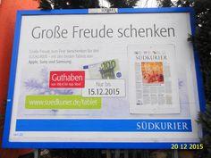 732. - Plakat in Stockach. / 20.12.2015./
