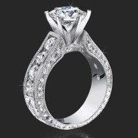 Invisible Channel Set Princess Diamond Ring Wide Band with Hidden Square Diamond – bbr422 | Unique Engagement Rings for Women by Blooming Beauty Jewelry