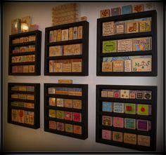 The Crafty Stuff stamp wall organisation
