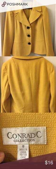 Blazer Mustard yellow or gold blazer w black buttons Conrad C Collection Jackets & Coats Blazers