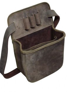 John Shooter Leather Cartridge Pouch - Distressed Leather This great shot gun cartridge pouch is very efficient for use in the field