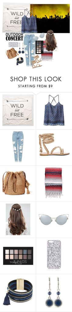 """""""Rocking the Night Away"""" by sallytcrosswell on Polyvore featuring Aerie, WithChic, Topshop, ASOS, Maybelline, Design Lab, Nine West, 60secondstyle and outdoorconcerts"""