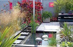 Landscaping Supplies, Modern Landscaping, Landscaping Plants, Outdoor Landscaping, Landscaping Ideas, Pond Design, Landscape Design, Jardin Feng Shui, Feng Shui Garden Design