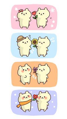 Resultado de imagen para dibujos kawaii tiernos de amor