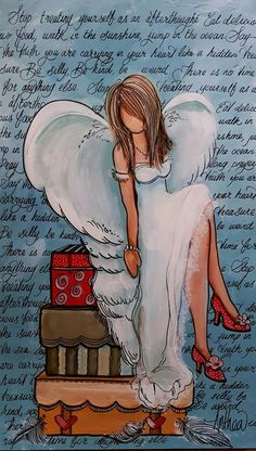 Africa Art, Out Of Africa, Fairy, Angels, Painting, Thoughts, African Art, Painting Art, Paintings