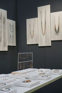 great displays on stretched canvas by Megan Auman jewelry - New York Gift