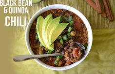 Black Bean & Quinoa Chili | 24 Extremely Delicious Slow Cooker Dinners