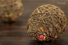 how to dragon eggs or easter could use pretty rainbow string