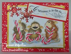 #StampThis! -Christmas card made with stamps by #Stampendous #HouseMouse