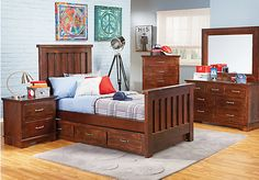 Shop for a Carter's Kids Collection Lost Creek Espresso 5 Pc Twin Slat Bedroom at Rooms To Go Kids. Find  that will look great in your home and complement the rest of your furniture.