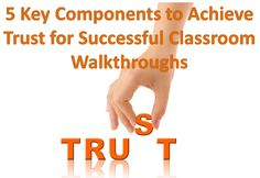 5 Key Components to Achieve Trust for Successful Classroom Walkthroughs Eye On Education School Leadership, Educational Leadership, Instructional Coaching, Instructional Design, Classroom Observation, Educational Administration, Teacher Evaluation, Model School, Math Coach