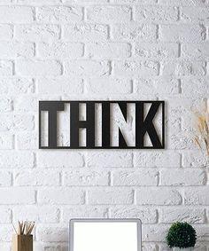 'Think' Metal Wall Décor #zulily #zulilyfinds