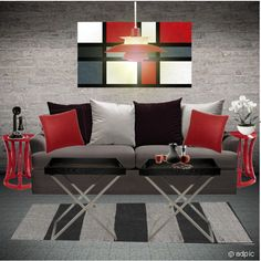 Grey and Red Living Room. LOVE! | For The Home | Pinterest | Red ...