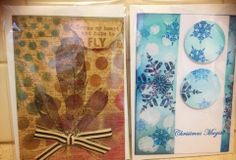 Designed by Allara Bamforth.  Kaszazz bubble stencil, Tim Holtz ink blending and Kaszazz stamps.