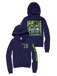 Victoria Secret Pink Seahawks Hoodie....not a Seahawks fan....but i love the new c colors!