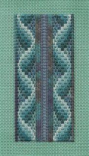 Lizart: Fun with Fiber Bargello needlepoint