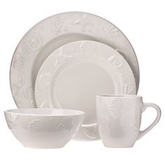 Seashells 16-pc. Dinnerware Set From Target.com $26.29 - I have this set, and it's very durable.